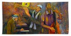 All That Jazz Hand Towel by Loretta Luglio
