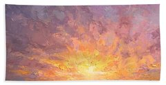 Impressionistic Sunrise Landscape Painting Bath Towel