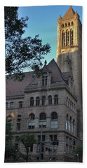 Bath Towel featuring the photograph Allegheny County Courthouse by Steven Richman