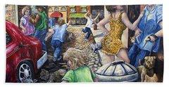 Alley Catz Bath Towel by Gail Butler