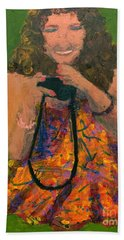 Bath Towel featuring the painting Allison by Donald J Ryker III