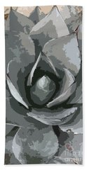 Aloe Vera Abstract Bath Towel