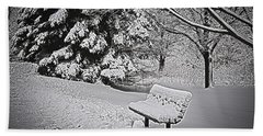 Bath Towel featuring the photograph Alone In The Park.... by Deborah Klubertanz
