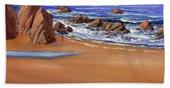 Alone On The Beach Bath Towel