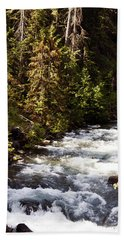 Along American River Bath Towel