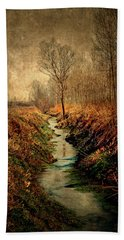 Along The Canal Hand Towel
