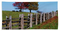 Along The Fence Hand Towel