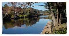 Along The River In Shelbourne Falls Bath Towel