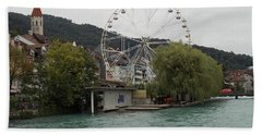 Along The River In Thun Hand Towel