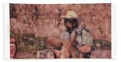 Altered Polaroid - Raft Master Matt Bath Towel by Wally Hampton