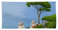 Amalfi Coast From Ravello Bath Towel by Mike Robles