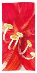Amaryllis Flower Bath Towel