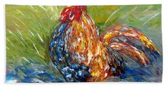 Amazed Rooster Hand Towel