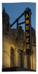 Ambler Theater Marquee Bath Towel by Photographic Arts And Design Studio