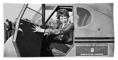 Amelia Earhart - 1936 Hand Towel