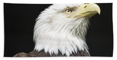 American Bald Eagle Profile Bath Towel by Richard Bryce and Family