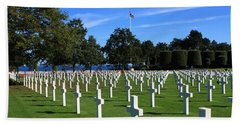 American Cemetery Normandy Bath Towel