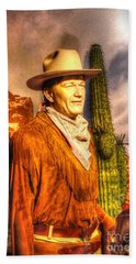 American Cinema Icons - The Duke Bath Towel by Dan Stone