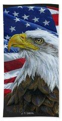 American Eagle Hand Towel by Sarah Batalka