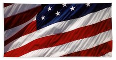 American Flag At Fort Moultrie Hand Towel