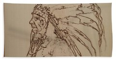 American Horse - Oglala Sioux Chief - 1880 Hand Towel by Sean Connolly