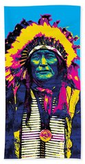 American Indian Chief Bath Towel