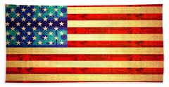 American Money Flag Bath Towel