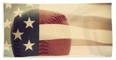 Americana Baseball  Hand Towel