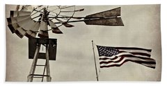 Americana Hand Towel by Chris Berry