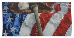 America's Game - Art By Bill Tomsa Hand Towel
