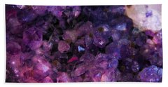 Hand Towel featuring the photograph Amethyst  by Leanne Seymour