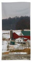 Amish Barn In Winter Hand Towel
