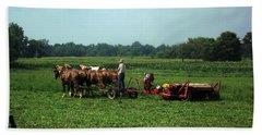 Amish Field Work Bath Towel by Joyce  Wasser
