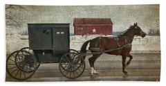 Amish Horse And Buggy And The Star Barn Hand Towel