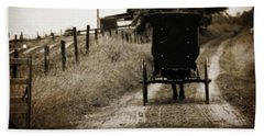 Amish Horse And Buggy Hand Towel