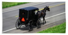 Amish Horse And Buggy In Ohio Hand Towel
