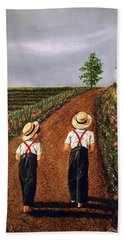 Amish Road Bath Towel
