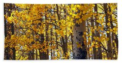 Among The Aspen Trees In Fall Bath Towel