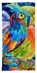 Ampersand Owl Bath Towel