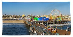 Amusement Park, Santa Monica Pier Hand Towel