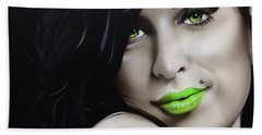 Amy Winehouse - ' Amy Jade ' Hand Towel by Christian Chapman Art