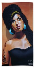 Amy Winehouse Hand Towel by Paul Meijering