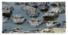 An America Alligators In Swamp Hand Towel