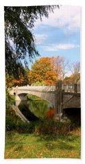 An Autumn Scene Hand Towel by Kay Novy