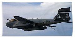 An Ea-6b Prowle In Flight Hand Towel