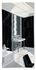 An Illustration Of A Bathroom Bath Towel