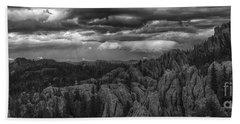 An Incoming Storm Over The Black Hills Of South Dakota Bath Towel
