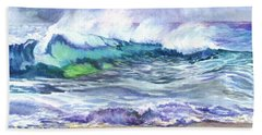 Bath Towel featuring the painting An Ode To The Sea by Carol Wisniewski