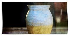 An Old Pot In Vintage Background Hand Towel
