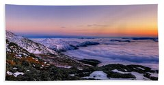An Undercast Sunset Panorama Hand Towel